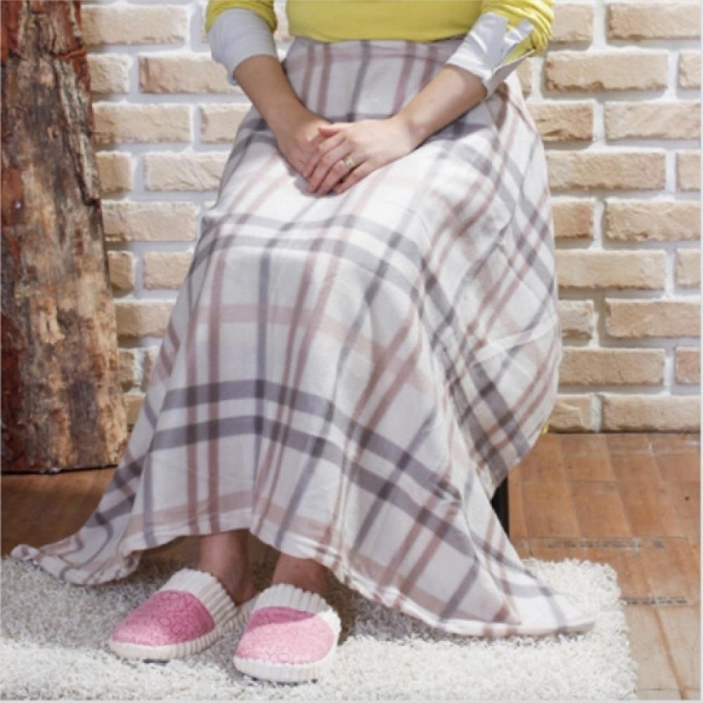 포근이 체크 무릎담요 (110cm/150g) [제작 대량 도매 로고 인쇄 레이저 마킹 각인 나염 실크 uv 포장 공장 문의는 네이뽕]