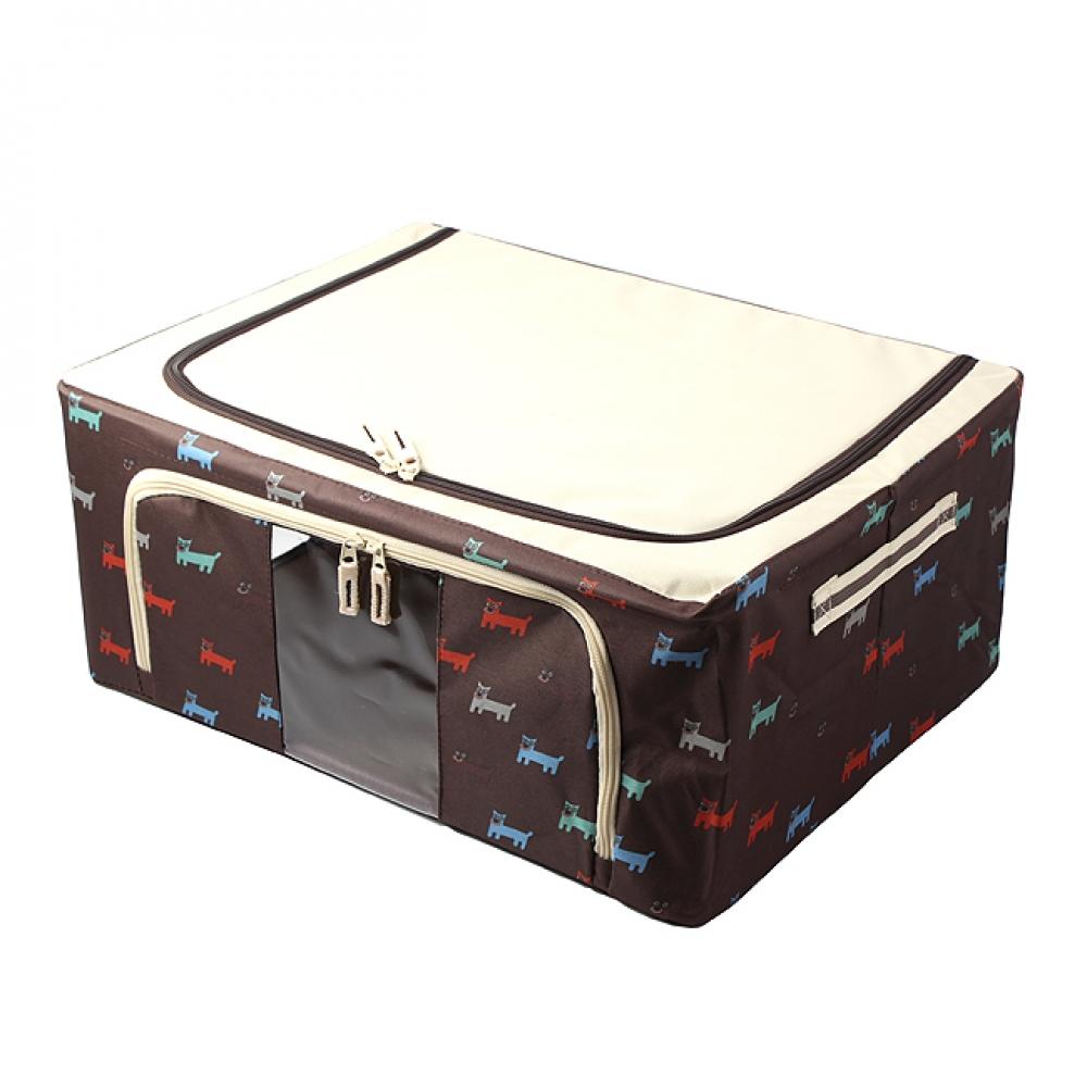 44L 강아지 패턴 리빙박스 [제작 대량 도매 로고 인쇄 레이저 마킹 각인 나염 실크 uv 포장 공장 문의는 네이뽕]
