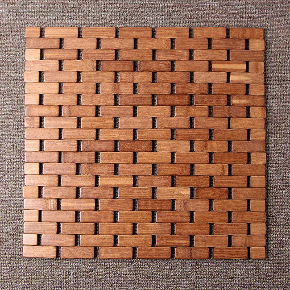 쿨썸머 벽돌무늬 대나무 방석(39cm) [제작 대량 도매 로고 인쇄 레이저 마킹 각인 나염 실크 uv 포장 공장 문의는 네이뽕]