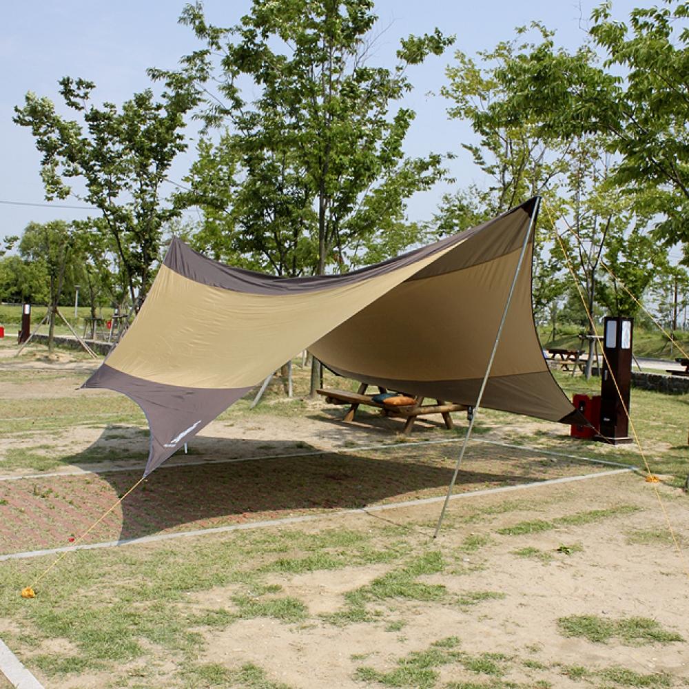 5.6M 캠핑용 헥사타프 [제작 대량 도매 로고 인쇄 레이저 마킹 각인 나염 실크 uv 포장 공장 문의는 네이뽕]