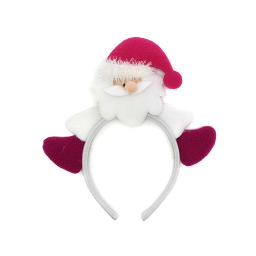 깜찍이 산타 머리띠(23.5cmx21.5cm) [제작 대량 도매 로고 인쇄 레이저 마킹 각인 나염 실크 uv 포장 공장 문의는 네이뽕]