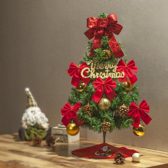 60cm 빨강리본 스카치 트리 풀세트 / 크리스마스트리 크리스마스츄리 크리스마스트리풀세트 크리스마스벽트리 크리스마스트리나무 대형크리스마스트리 크리스마스트리만들기