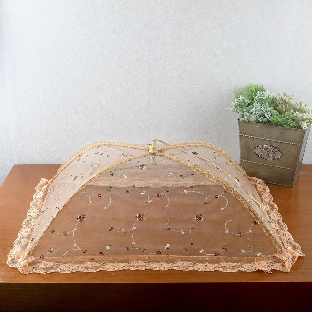 쿠킹 레이스 원터치 밥상보(사각 꽃자수) [제작 대량 도매 로고 인쇄 레이저 마킹 각인 나염 실크 uv 포장 공장 문의는 네이뽕]