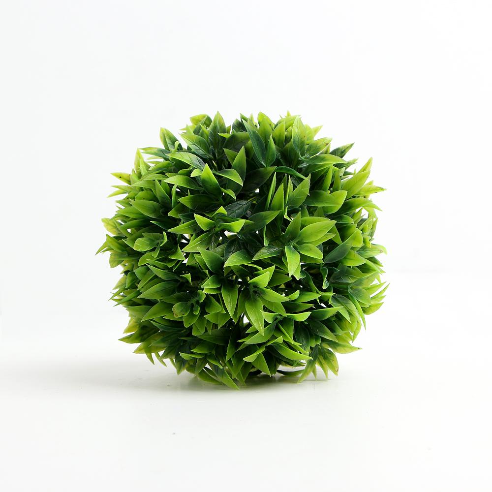 인테리어 녹색 인조 잔디볼(12cm) [제작 대량 도매 로고 인쇄 레이저 마킹 각인 나염 실크 uv 포장 공장 문의는 네이뽕]