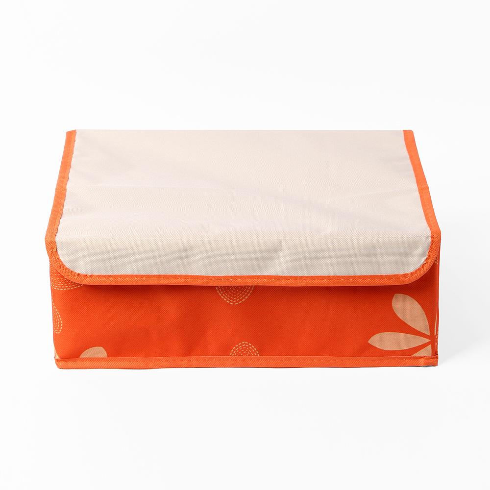 리빙박스 속옷정리함(오렌지) (6칸) [제작 대량 도매 로고 인쇄 레이저 마킹 각인 나염 실크 uv 포장 공장 문의는 네이뽕]