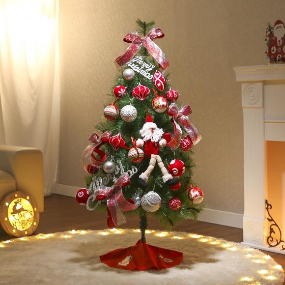 120cm 샬롯 솔잎트리 풀세트(전구포함) / 크리스마스트리 크리스마스츄리 크리스마스트리풀세트 크리스마스벽트리 크리스마스트리나무 대형크리스마스트리 크리스마스트리만들기