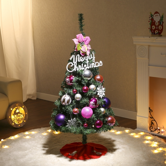120cm 샤이니 플라워 스카치트리 풀세트(전구포함) / 크리스마스트리 크리스마스츄리 크리스마스트리풀세트 크리스마스벽트리 크리스마스트리나무 대형크리스마스트리 크리스마스트리만들기