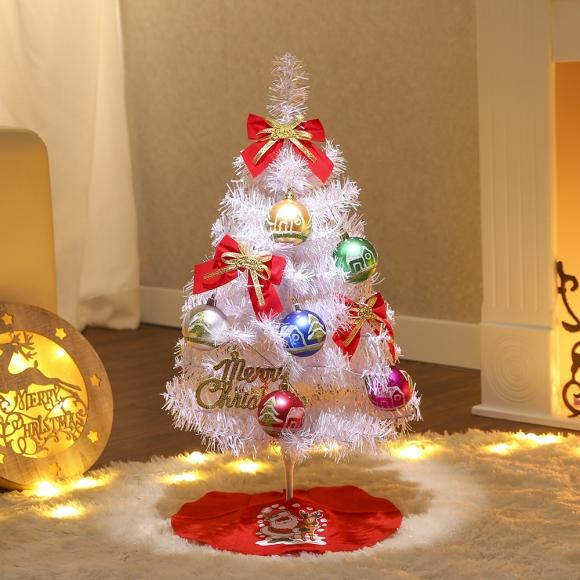 60cm 캔디볼 화이트 홀로그램 트리 풀세트 / 크리스마스트리 크리스마스츄리 크리스마스트리풀세트 크리스마스벽트리 크리스마스트리나무 대형크리스마스트리 크리스마스트리만들기