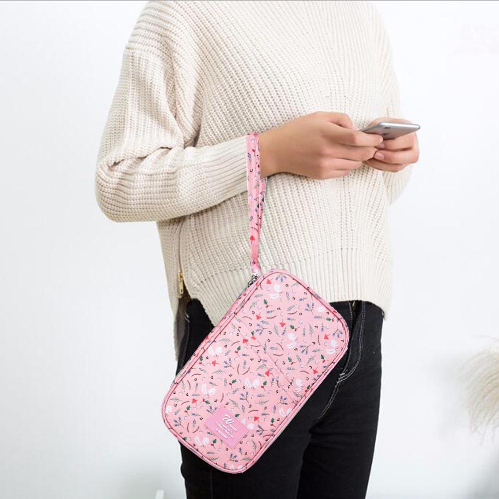 폴리다 여행용 여권 파우치(핑크) [제작 대량 도매 로고 인쇄 레이저 마킹 각인 나염 실크 uv 포장 공장 문의는 네이뽕]