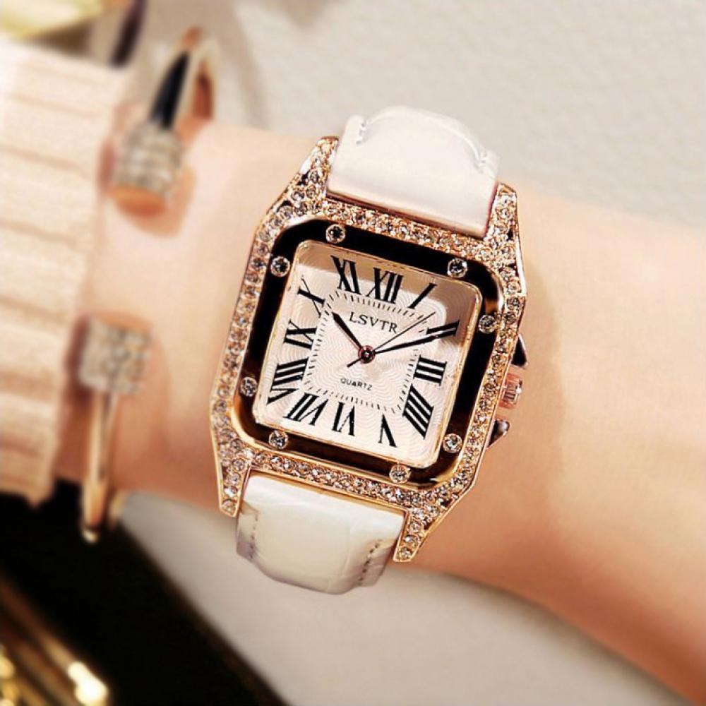 오젠스 여성 손목시계(화이트) [제작 대량 도매 로고 인쇄 레이저 마킹 각인 나염 실크 uv 포장 공장 문의는 네이뽕]
