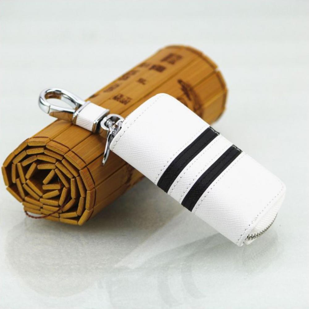오르진 키홀더 지갑(화이트) [제작 대량 도매 로고 인쇄 레이저 마킹 각인 나염 실크 uv 포장 공장 문의는 네이뽕]