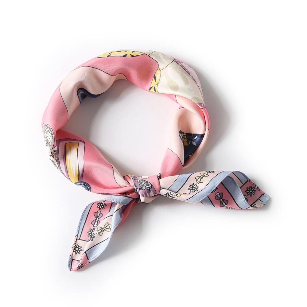 키세라 쁘띠 스카프 (핑크) [제작 대량 도매 로고 인쇄 레이저 마킹 각인 나염 실크 uv 포장 공장 문의는 네이뽕]