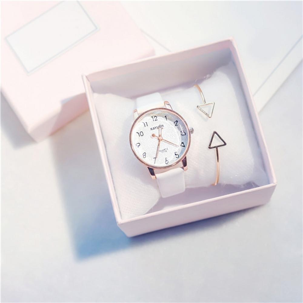 리클리 여성 손목시계(화이트) [제작 대량 도매 로고 인쇄 레이저 마킹 각인 나염 실크 uv 포장 공장 문의는 네이뽕]