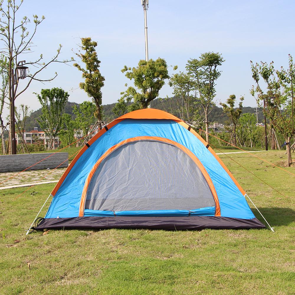 3-4인용 이지캠핑 자동 원터치 텐트 [제작 대량 도매 로고 인쇄 레이저 마킹 각인 나염 실크 uv 포장 공장 문의는 네이뽕]