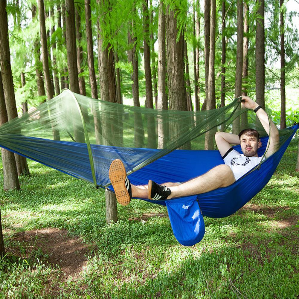 윌비 오토 캠핑 모기장 해먹(블루) 250cmx120cm [제작 대량 도매 로고 인쇄 레이저 마킹 각인 나염 실크 uv 포장 공장 문의는 네이뽕]