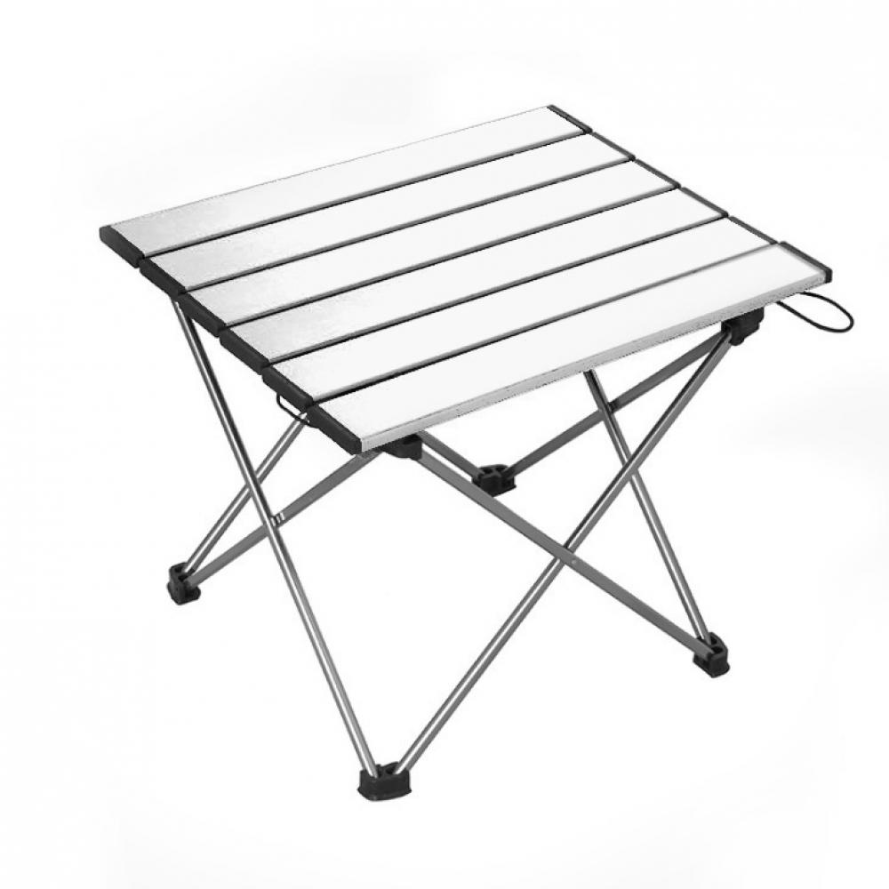 필라라 캠핑 휴대용 접이식 테이블(실버) (소) [제작 대량 도매 로고 인쇄 레이저 마킹 각인 나염 실크 uv 포장 공장 문의는 네이뽕]