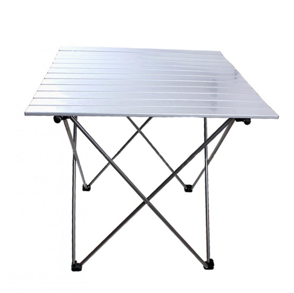 필라라 캠핑 휴대용 접이식 테이블(실버) (대) [제작 대량 도매 로고 인쇄 레이저 마킹 각인 나염 실크 uv 포장 공장 문의는 네이뽕]
