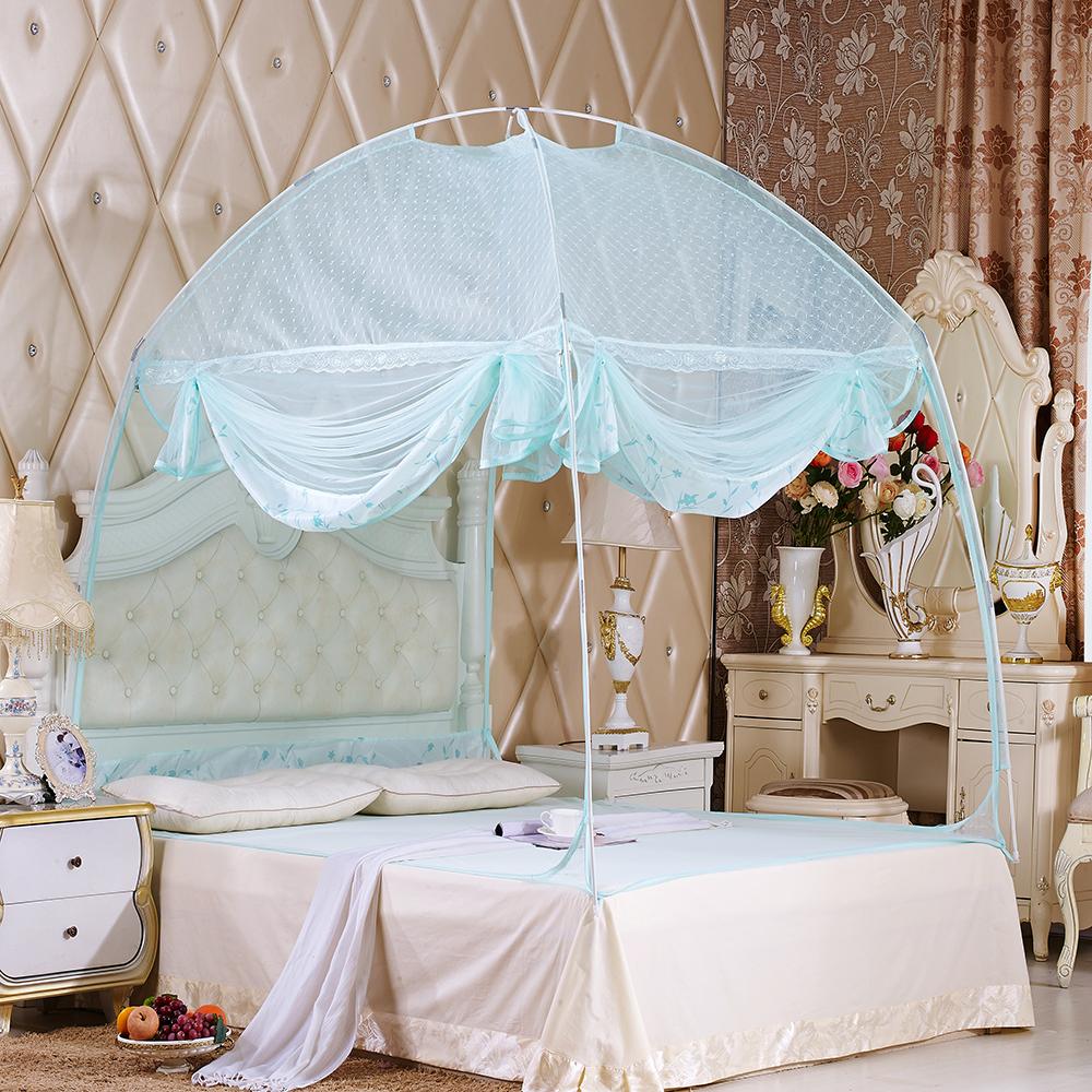 유니룸 돔형 사각 모기장(135x200cm) (블루) [제작 대량 도매 로고 인쇄 레이저 마킹 각인 나염 실크 uv 포장 공장 문의는 네이뽕]