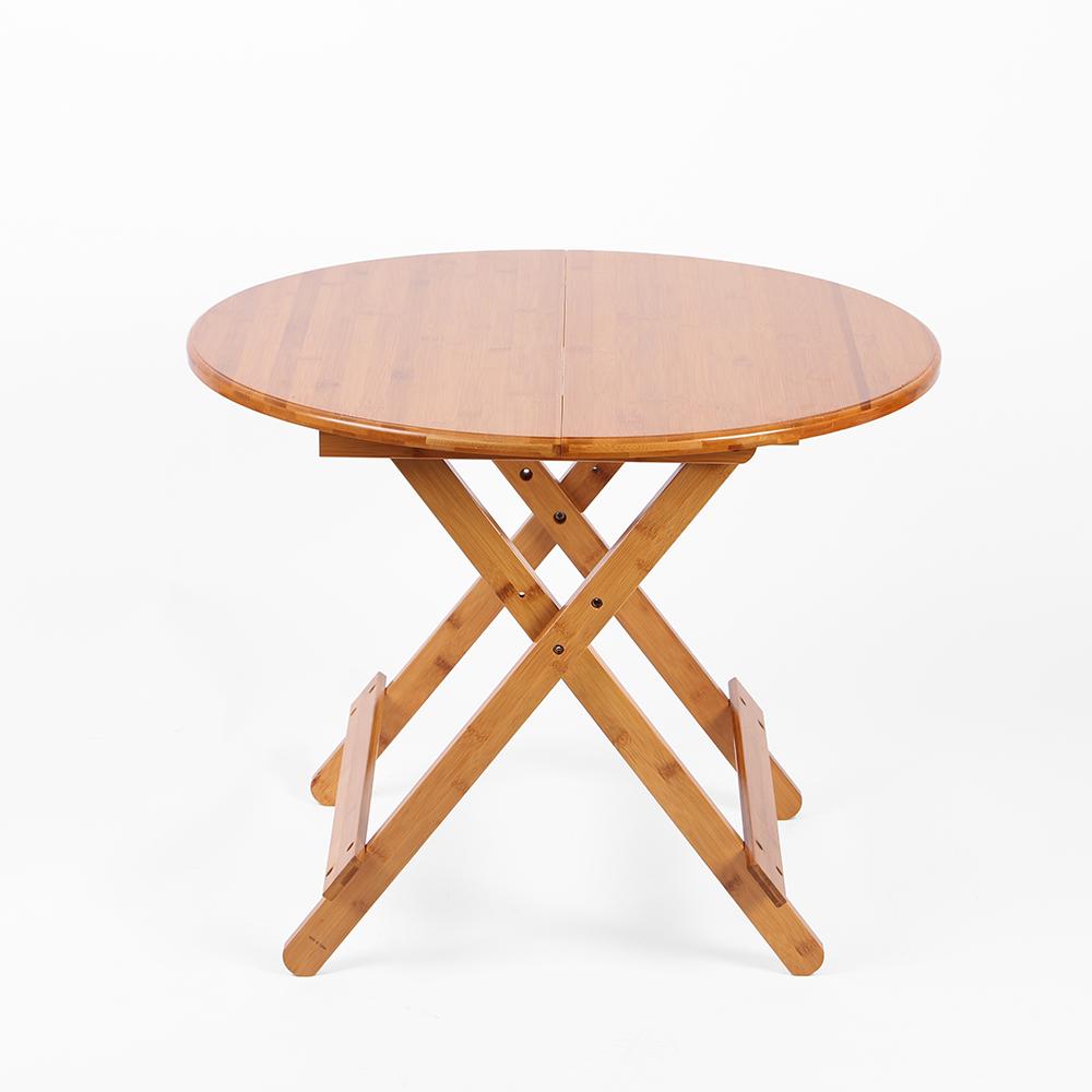 접이식 우드 원형 테이블(70x56cm) [제작 대량 도매 로고 인쇄 레이저 마킹 각인 나염 실크 uv 포장 공장 문의는 네이뽕]