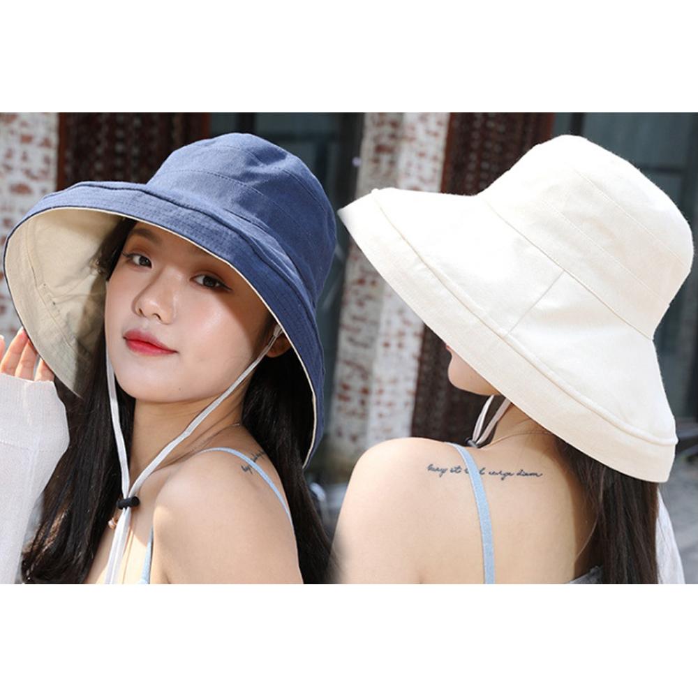 썬쉐이드 양면 햇빛가리개 모자(블루베이지) [제작 대량 도매 로고 인쇄 레이저 마킹 각인 나염 실크 uv 포장 공장 문의는 네이뽕]