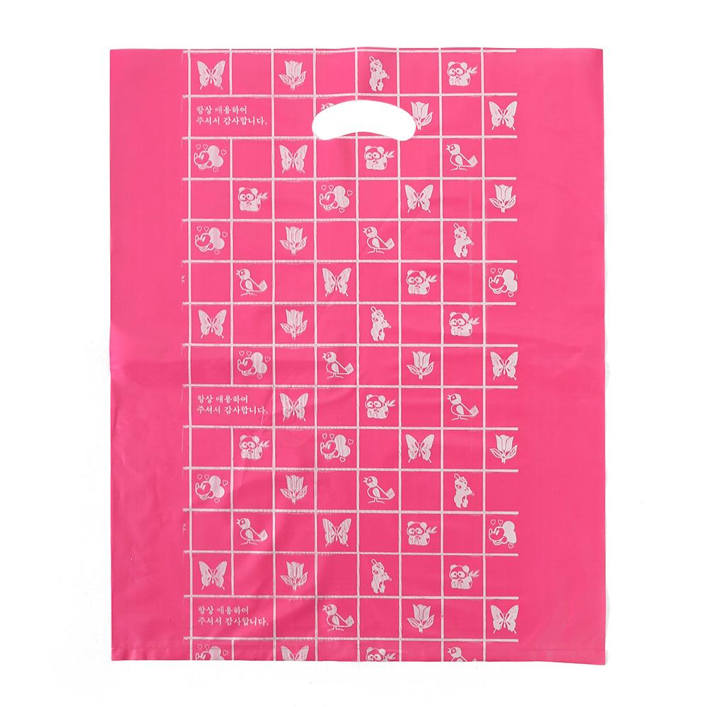 100p 양장비닐봉투(빨강) (40x50cm) [제작 대량 도매 로고 인쇄 레이저 마킹 각인 나염 실크 uv 포장 공장 문의는 네이뽕]