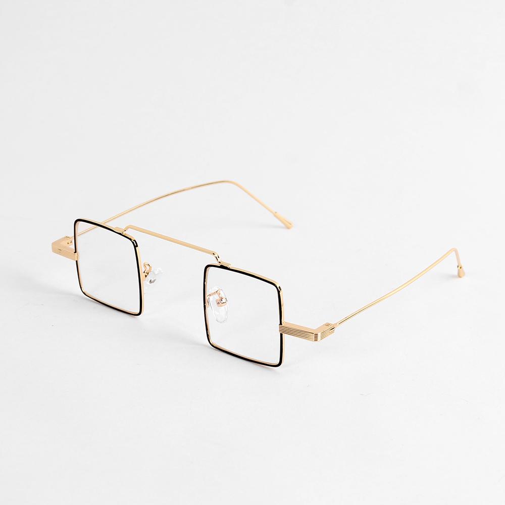 유니크 사각 안경(블랙골드) [제작 대량 도매 로고 인쇄 레이저 마킹 각인 나염 실크 uv 포장 공장 문의는 네이뽕]