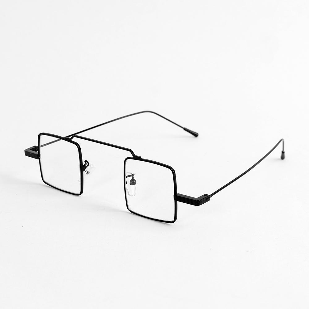 유니크 사각 안경(블랙) [제작 대량 도매 로고 인쇄 레이저 마킹 각인 나염 실크 uv 포장 공장 문의는 네이뽕]