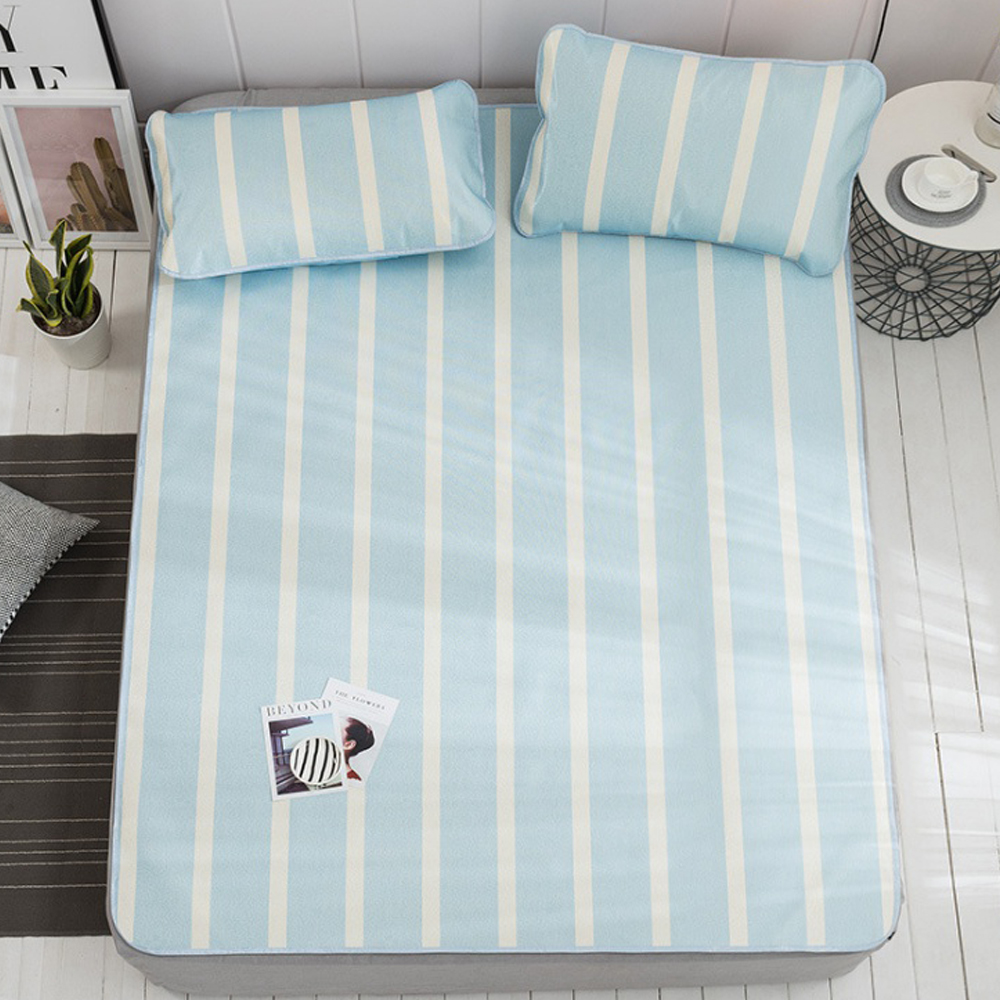 포리온 일자 침대 커버세트(스카이) (150cmx195cm) [제작 대량 도매 로고 인쇄 레이저 마킹 각인 나염 실크 uv 포장 공장 문의는 네이뽕]