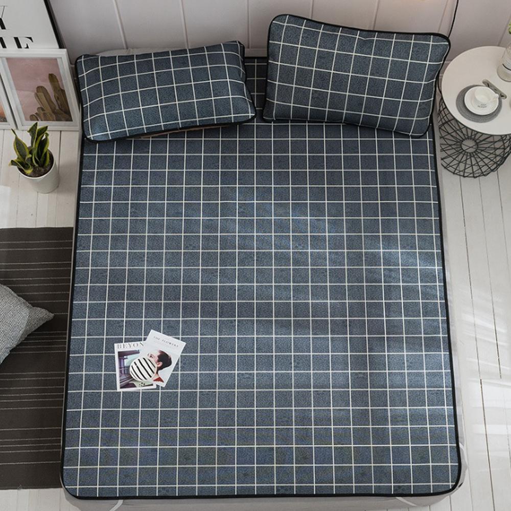 포리온 격자 침대 커버세트(블랙) (90cmx190cm) [제작 대량 도매 로고 인쇄 레이저 마킹 각인 나염 실크 uv 포장 공장 문의는 네이뽕]