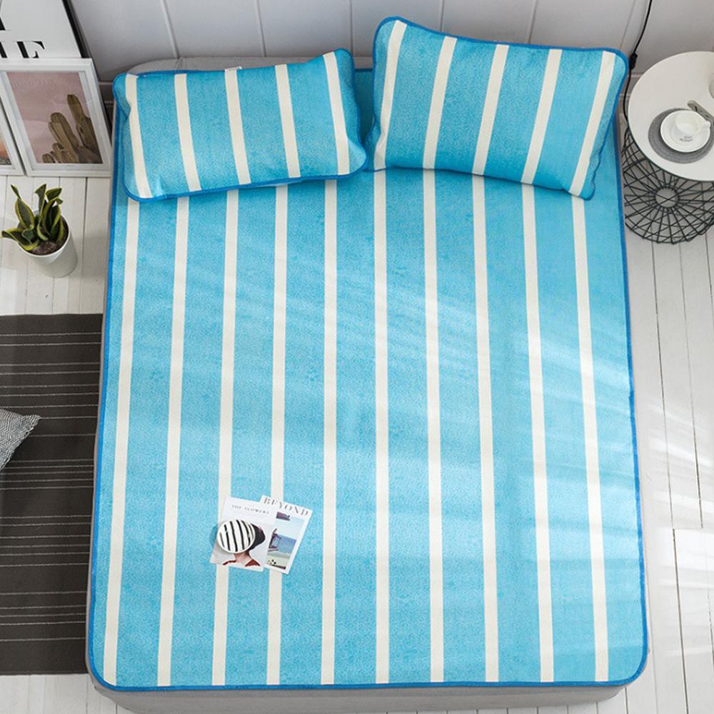 포리온 일자 침대 커버세트(블루) (90cmx190cm) [제작 대량 도매 로고 인쇄 레이저 마킹 각인 나염 실크 uv 포장 공장 문의는 네이뽕]