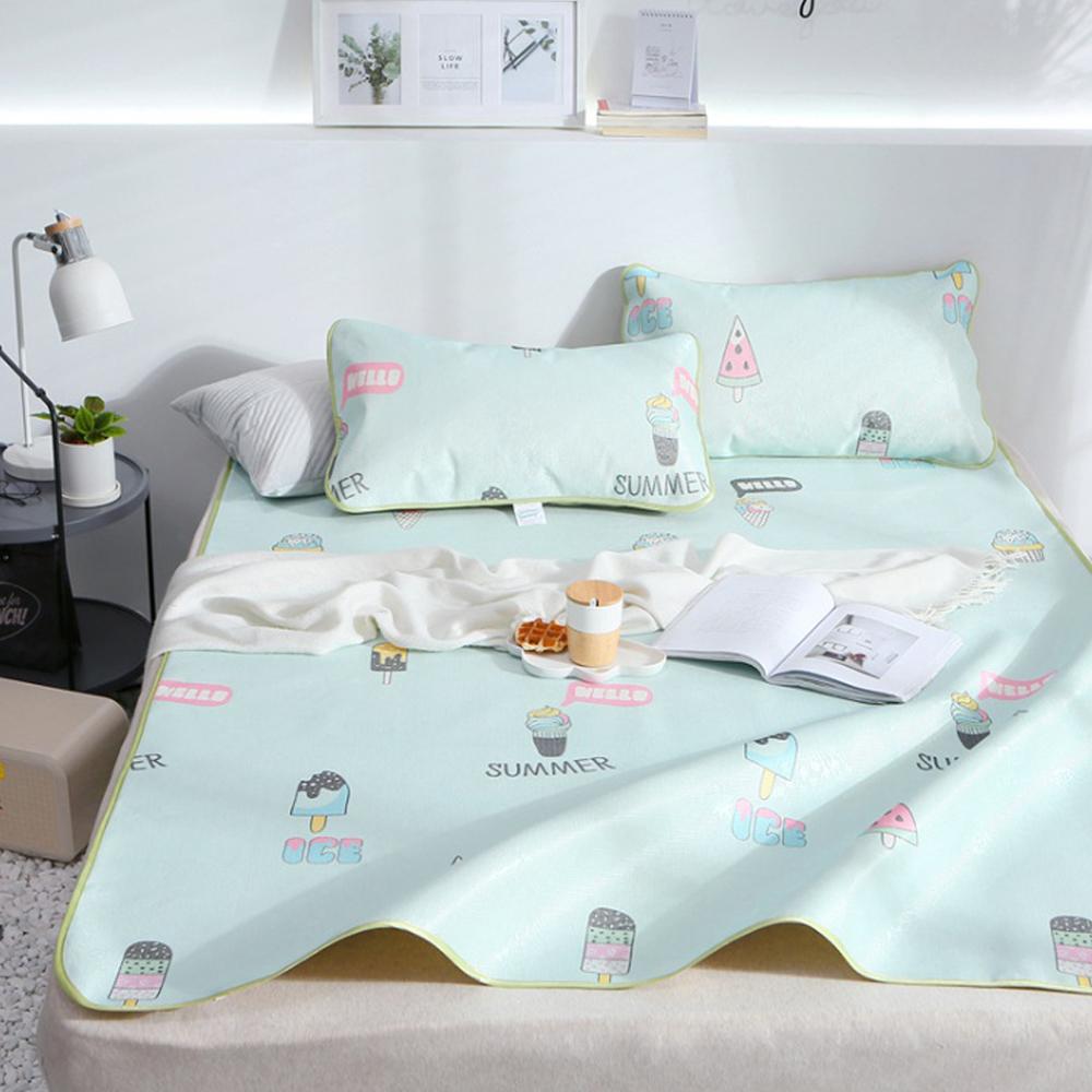 포리온 아이스크림 침대 커버세트(120cmx195cm) [제작 대량 도매 로고 인쇄 레이저 마킹 각인 나염 실크 uv 포장 공장 문의는 네이뽕]