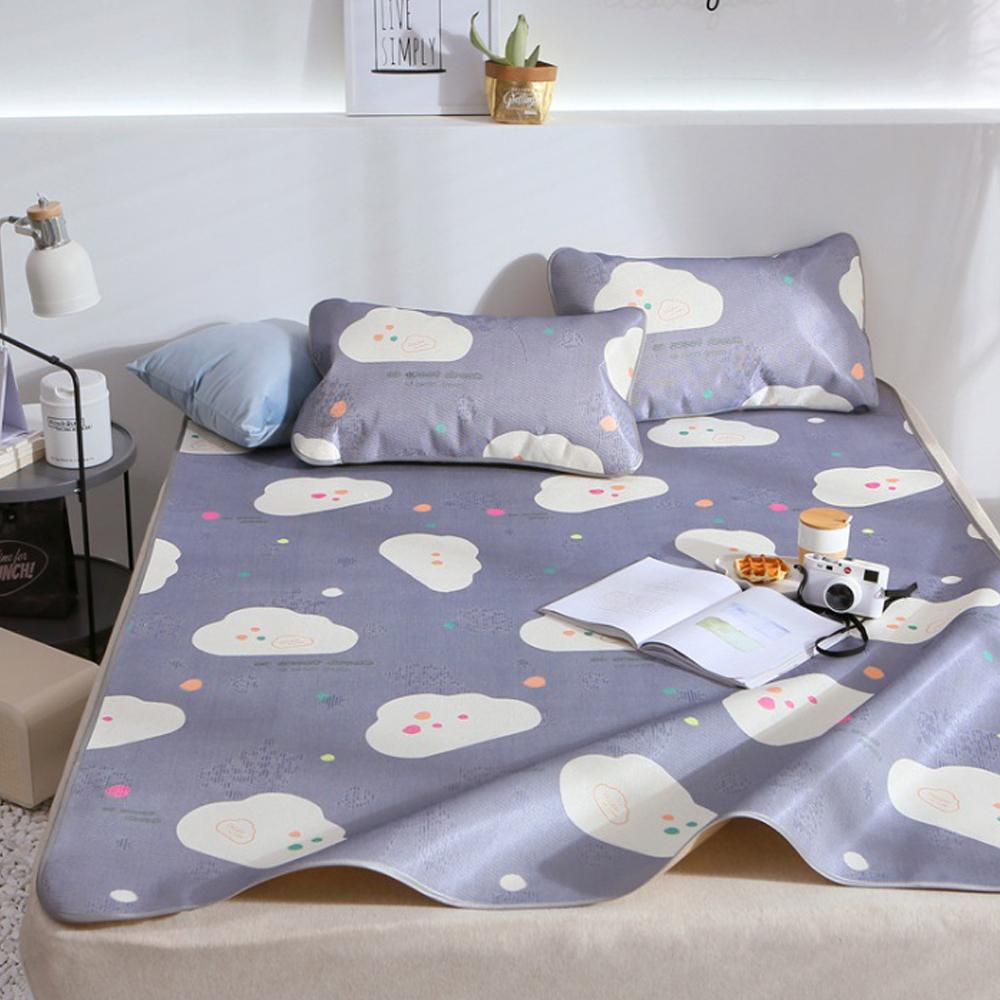 포리온 구름송이 침대 패드세트(네이비) (180*200cm) [제작 대량 도매 로고 인쇄 레이저 마킹 각인 나염 실크 uv 포장 공장 문의는 네이뽕]