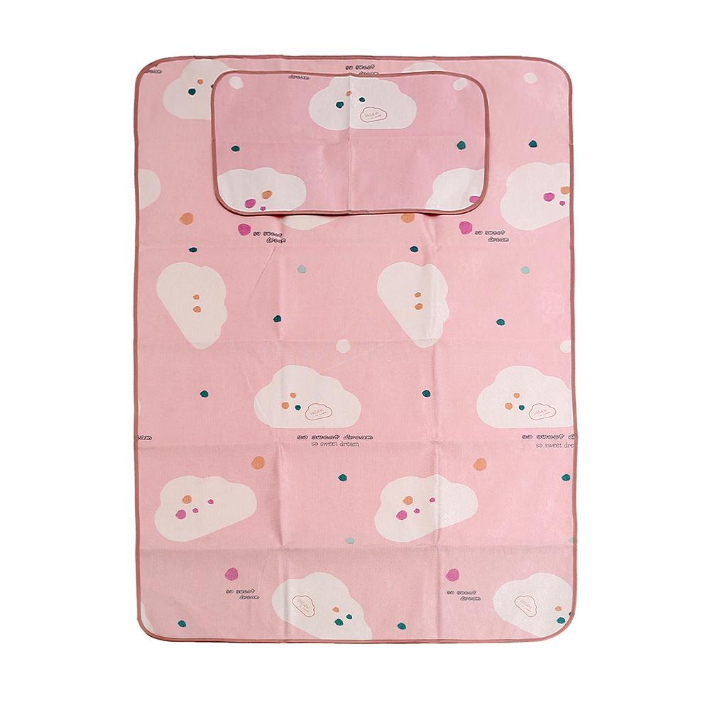 포리온 구름송이 침대 패드세트(핑크) (120x195cm) [제작 대량 도매 로고 인쇄 레이저 마킹 각인 나염 실크 uv 포장 공장 문의는 네이뽕]