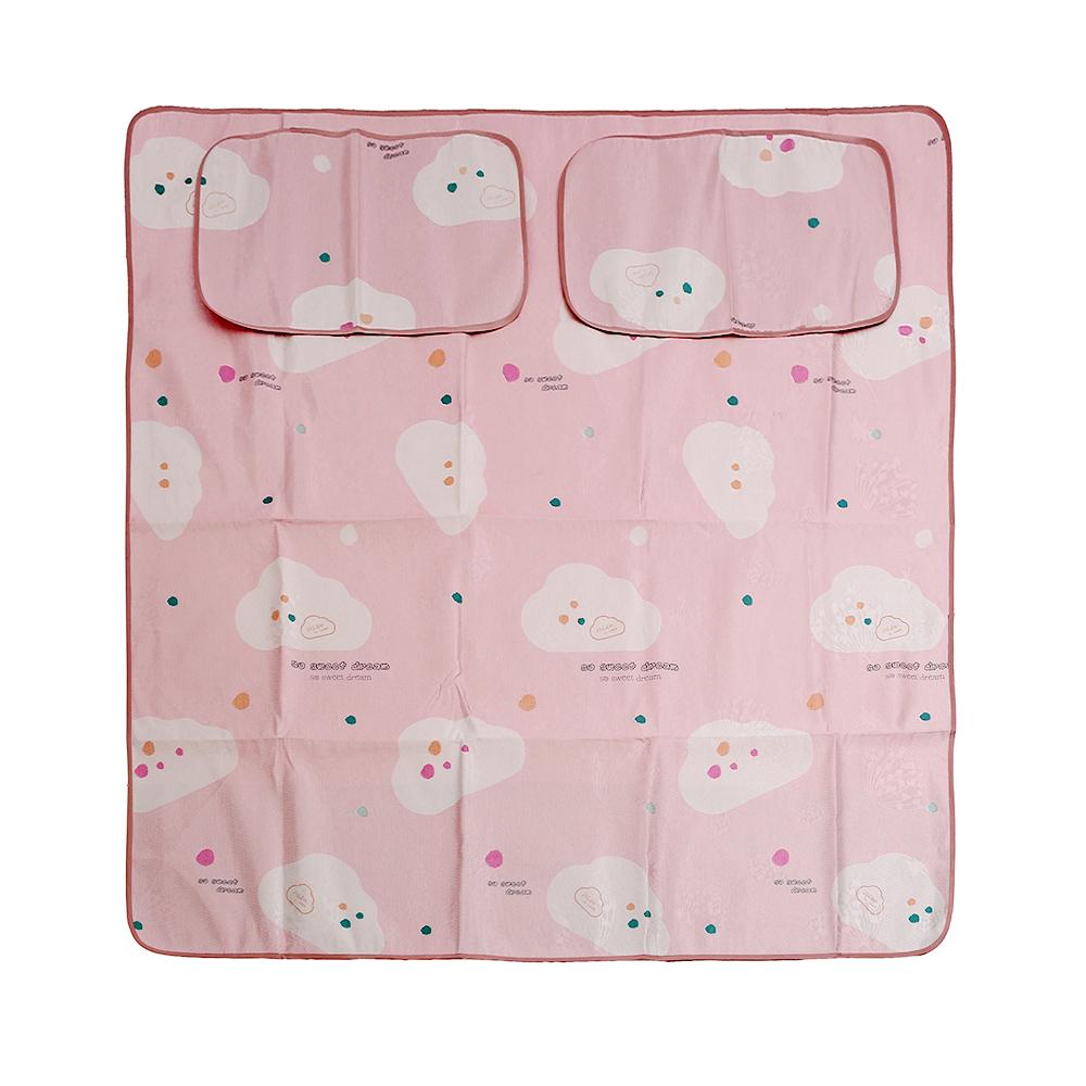 포리온 구름송이 침대 패드세트(핑크) (150x195cm) [제작 대량 도매 로고 인쇄 레이저 마킹 각인 나염 실크 uv 포장 공장 문의는 네이뽕]