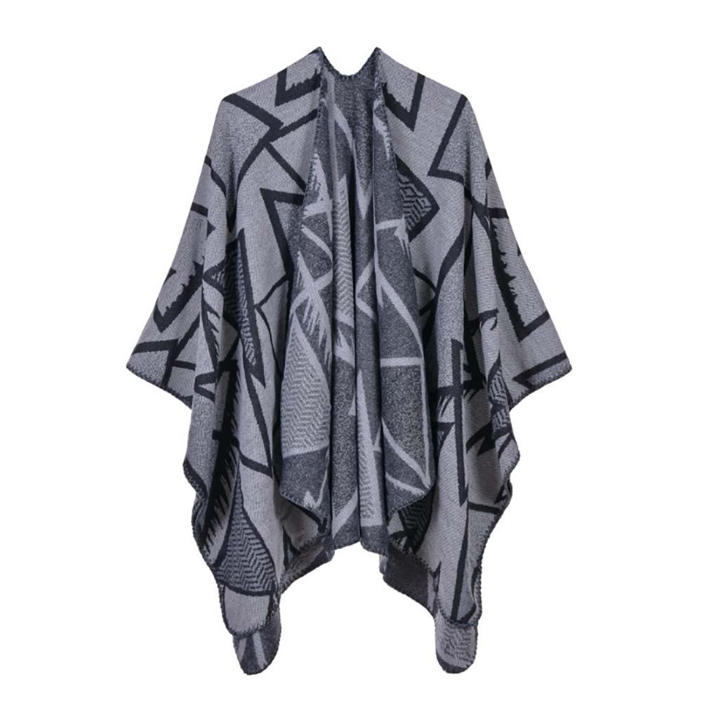 라베르 트라이앵글 무늬 여성 숄(그레이) [제작 대량 도매 로고 인쇄 레이저 마킹 각인 나염 실크 uv 포장 공장 문의는 네이뽕]