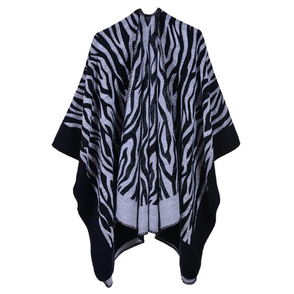 라베르 지브라 여성 숄(블랙) [제작 대량 도매 로고 인쇄 레이저 마킹 각인 나염 실크 uv 포장 공장 문의는 네이뽕]