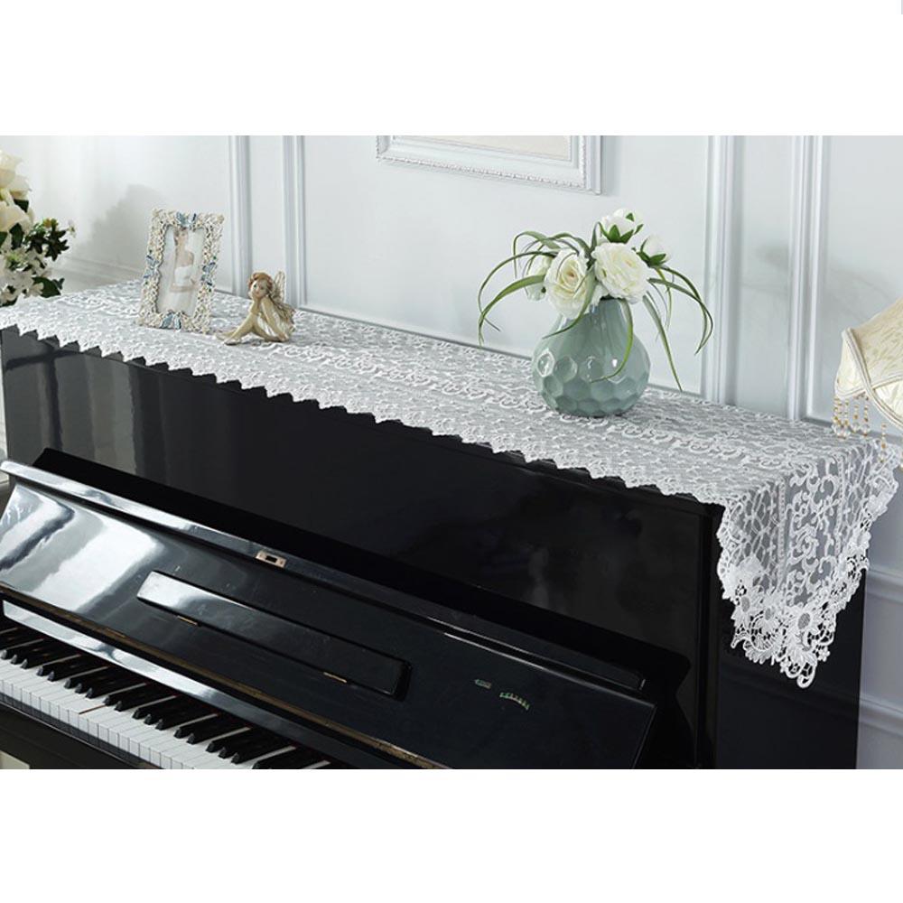 아벨리 매쉬 레이스 피아노 커버(40cmx210cm) (화이트) [제작 대량 도매 로고 인쇄 레이저 마킹 각인 나염 실크 uv 포장 공장 문의는 네이뽕]