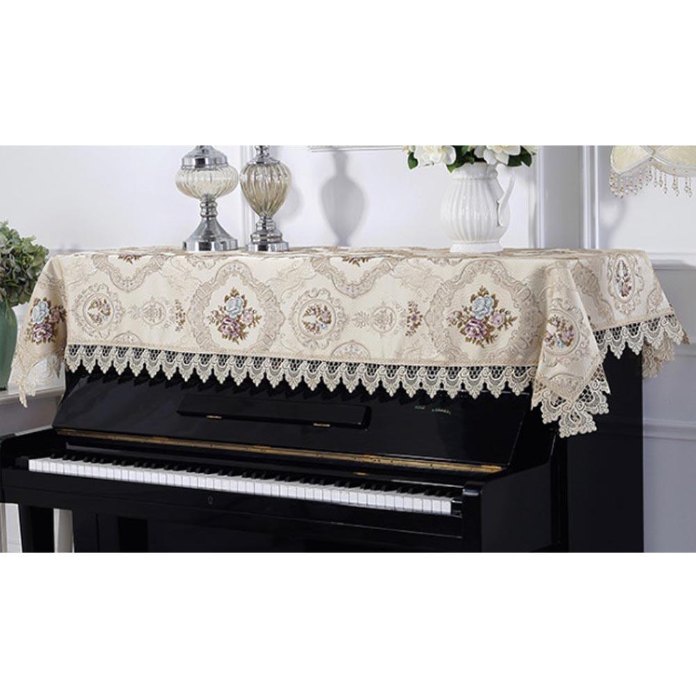 아벨리 자수 피아노 커버(90cmx200cm) (베이지) [제작 대량 도매 로고 인쇄 레이저 마킹 각인 나염 실크 uv 포장 공장 문의는 네이뽕]