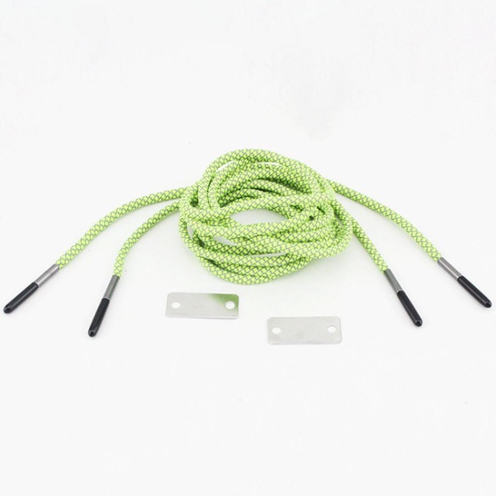 캠핑랜드 파이어스타터 신발끈 2p(그린) [제작 대량 도매 로고 인쇄 레이저 마킹 각인 나염 실크 uv 포장 공장 문의는 네이뽕]
