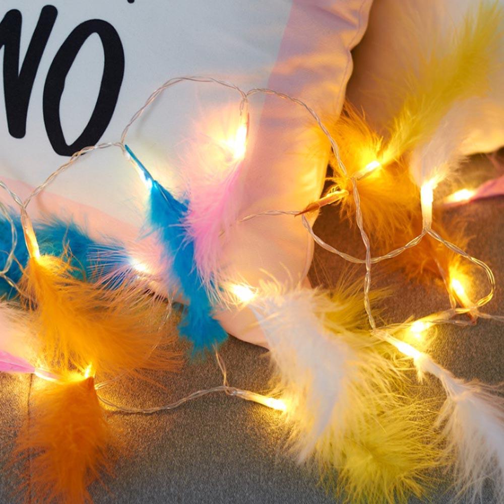 80구 와이어 깃털 웜색전구(칼라) (10M) [제작 대량 도매 로고 인쇄 레이저 마킹 각인 나염 실크 uv 포장 공장 문의는 네이뽕]