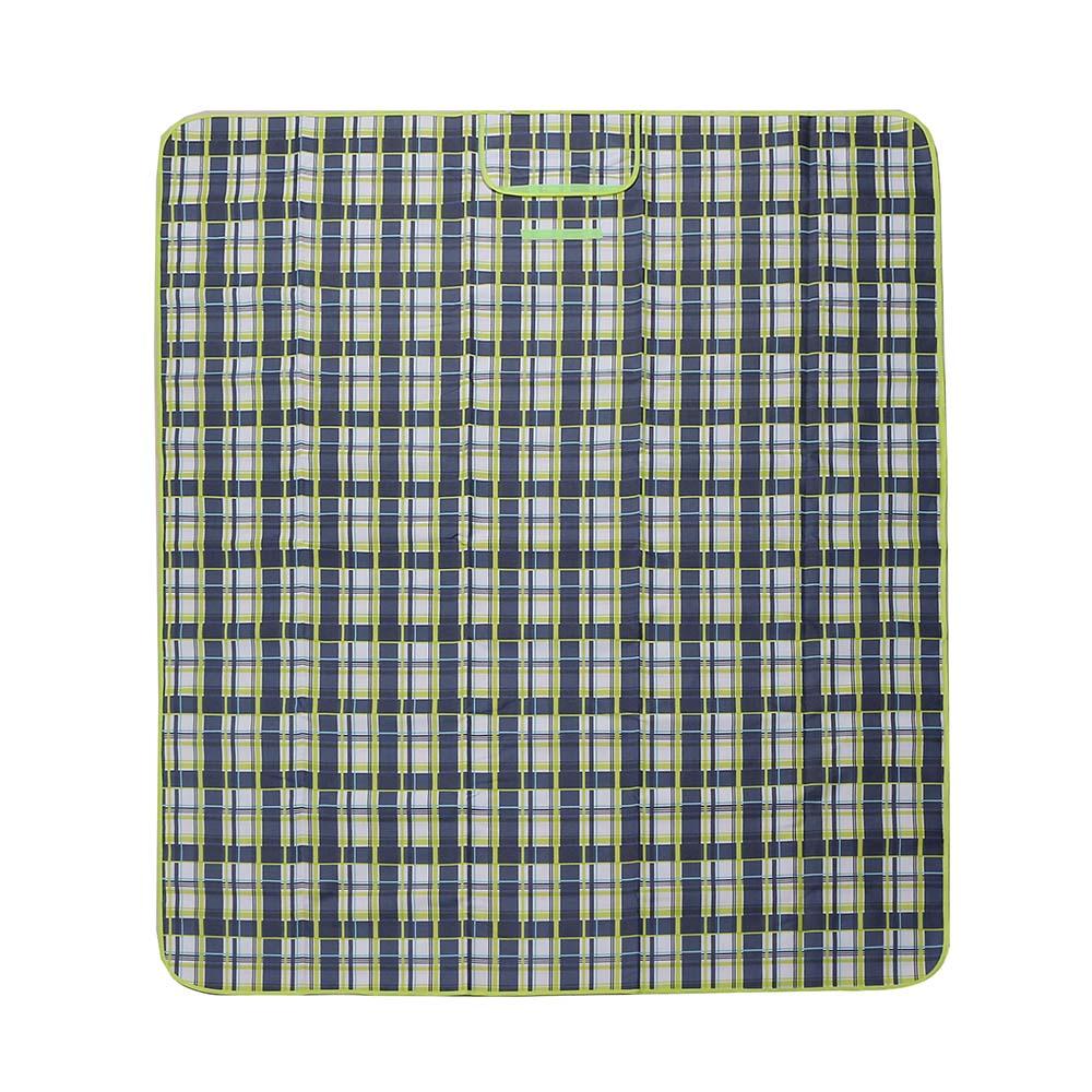 피크닉 체크 돗자리(145x180cm) (네이비) [제작 대량 도매 로고 인쇄 레이저 마킹 각인 나염 실크 uv 포장 공장 문의는 네이뽕]