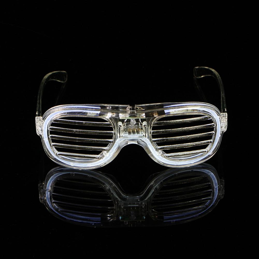 LED 야광 쉐이드 안경(투명) [제작 대량 도매 로고 인쇄 레이저 마킹 각인 나염 실크 uv 포장 공장 문의는 네이뽕]