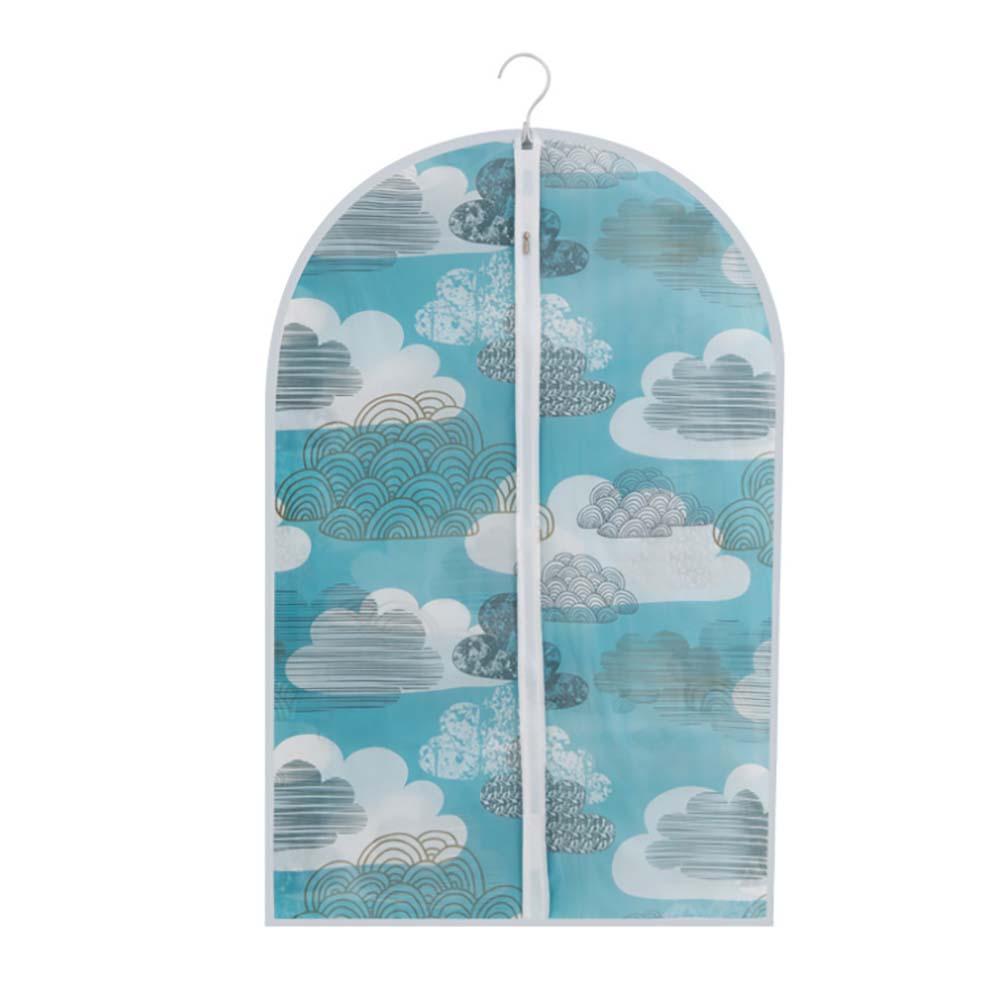 무핀 구름 PEVA원단 지퍼식 옷커버(90cm) [제작 대량 도매 로고 인쇄 레이저 마킹 각인 나염 실크 uv 포장 공장 문의는 네이뽕]