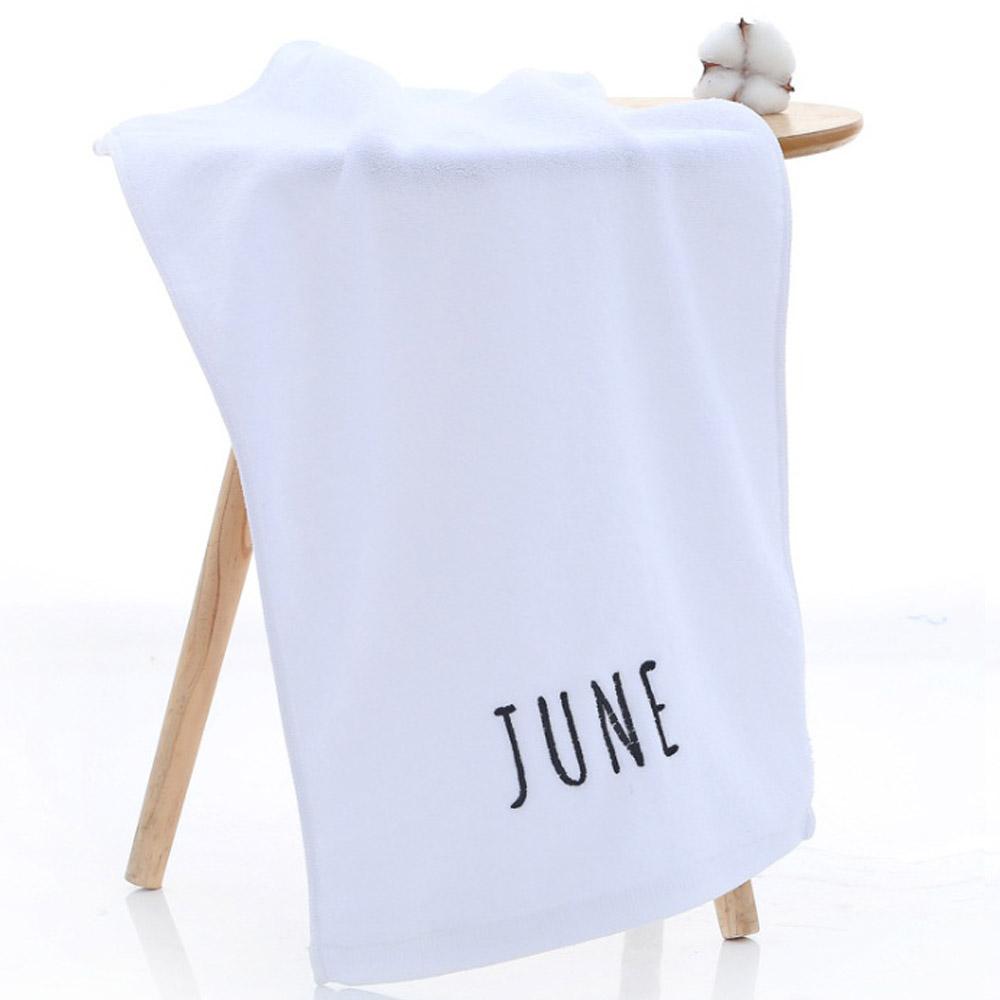 뽀송데이 JUNE 수건(화이트) [제작 대량 도매 로고 인쇄 레이저 마킹 각인 나염 실크 uv 포장 공장 문의는 네이뽕]