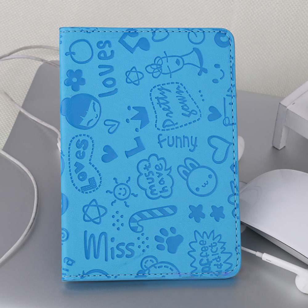 여행콜 캐릭터 여권케이스(블루) [제작 대량 도매 로고 인쇄 레이저 마킹 각인 나염 실크 uv 포장 공장 문의는 네이뽕]