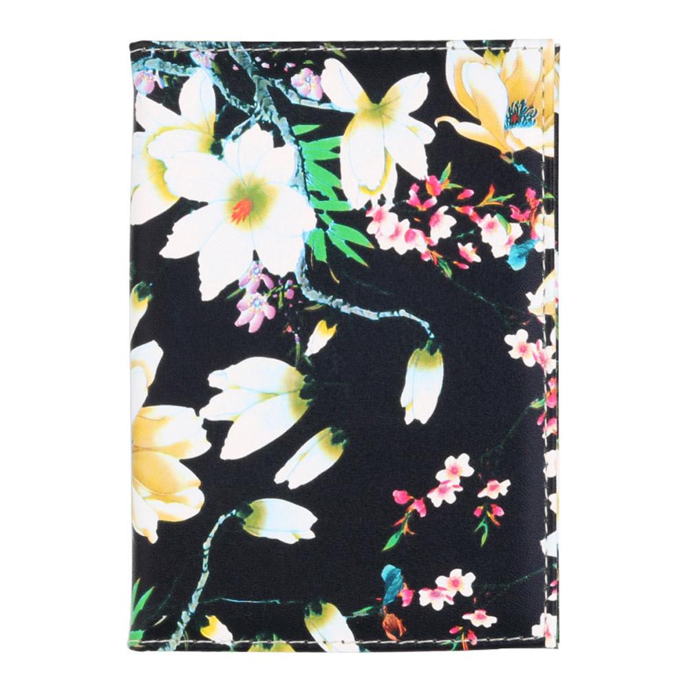 여행콜 꽃무늬 여권케이스(블랙) [제작 대량 도매 로고 인쇄 레이저 마킹 각인 나염 실크 uv 포장 공장 문의는 네이뽕]