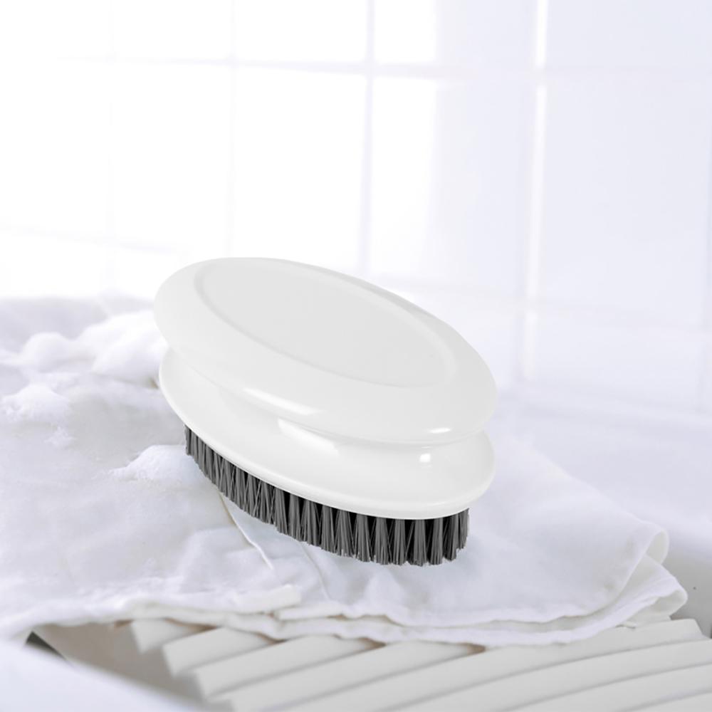 무핀 한손잡이 세탁솔(화이트) [제작 대량 도매 로고 인쇄 레이저 마킹 각인 나염 실크 uv 포장 공장 문의는 네이뽕]