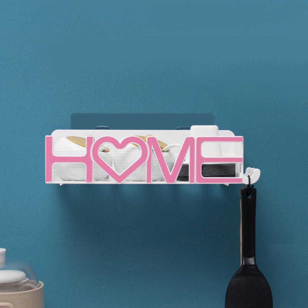 두코 HOME 접착식 욕실선반(핑크) [제작 대량 도매 로고 인쇄 레이저 마킹 각인 나염 실크 uv 포장 공장 문의는 네이뽕]