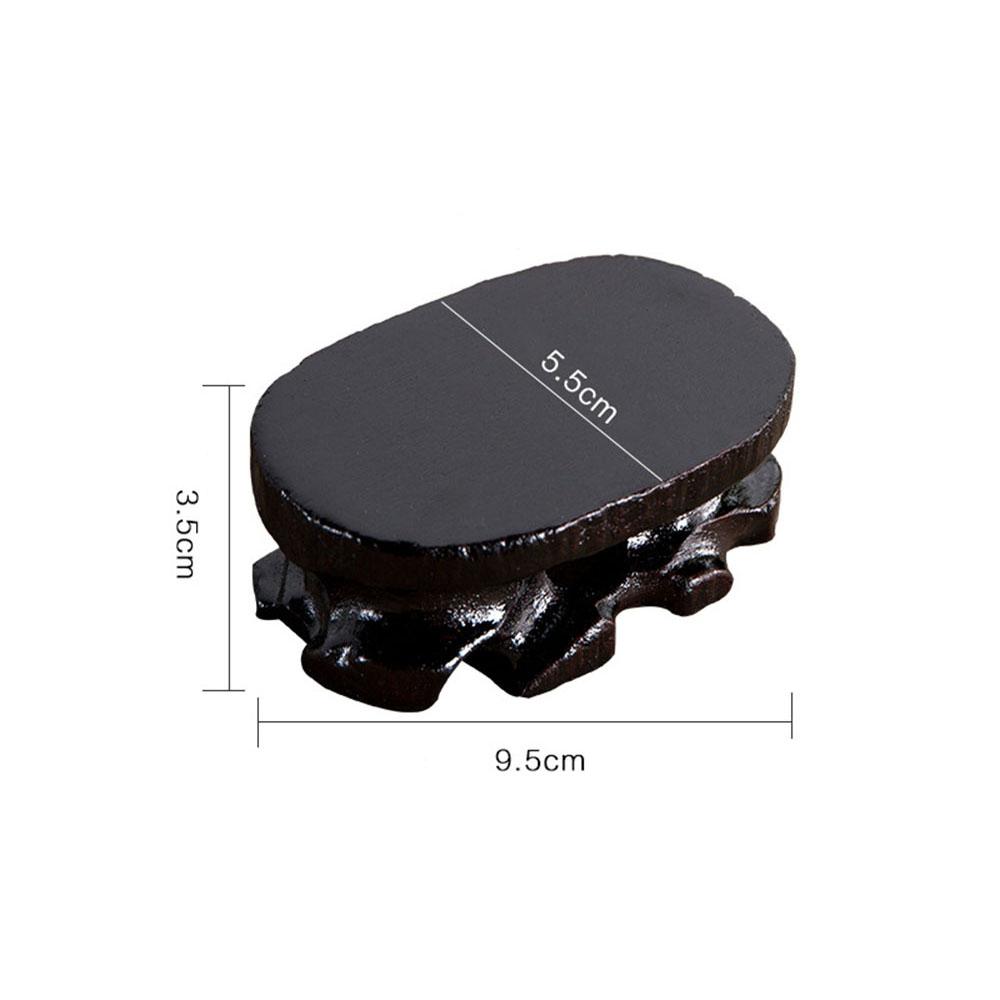 다포 원목 타원형 받침대(블랙) (9.5cm) [제작 대량 도매 로고 인쇄 레이저 마킹 각인 나염 실크 uv 포장 공장 문의는 네이뽕]
