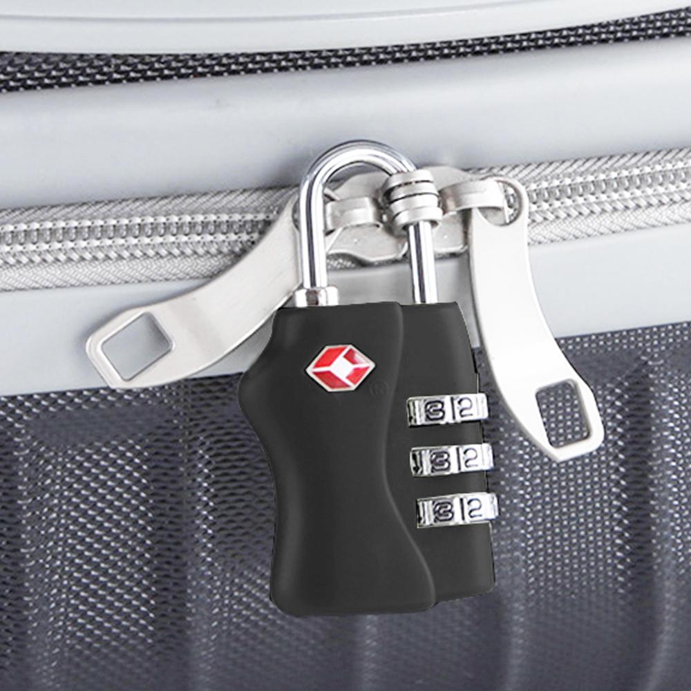 심플락 TSA 3자리 자물쇠(블랙) [제작 대량 도매 로고 인쇄 레이저 마킹 각인 나염 실크 uv 포장 공장 문의는 네이뽕]